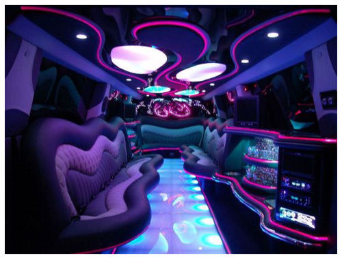 Chauffeur stretched Hummer H2 limousine hire interior in Nottingham, Derby, Leicester, Birmingham Leeds, Bradford, Nottinghamshire, Derbyshire, West Yorkshire, South Yorkshire Midlands.