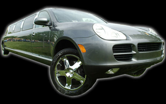 Chauffeur stretched silver Porsche Cayenne limousine hire in London, Leeds, Bradford, West Yorkshire, Nottingham, Derby, Nottinghamshire, Derbyshire, Midlands, Surrey, Hertfordshire, Berkshire, Buckinghamshire, Essex, Cambridgeshire, Oxfordshire, and Wiltshire.