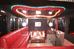 Fire Engine limo hire interior in Liverpool, Manchester, Bolton, North West